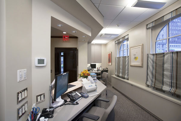 doctor's office front desk interior